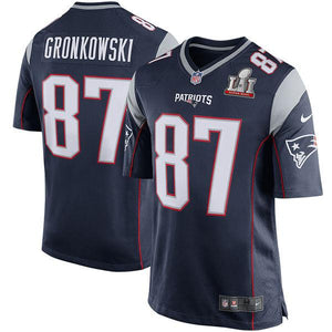 Youth New England Patriots Rob Gronkowski Nike Navy Super Bowl LI Bound Game Jersey