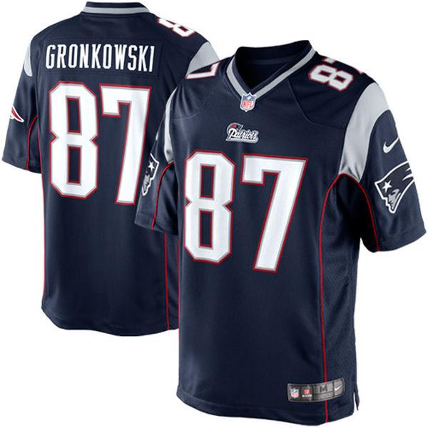 Youth New England Patriots Rob Gronkowski Nike Navy Blue Limited Jersey