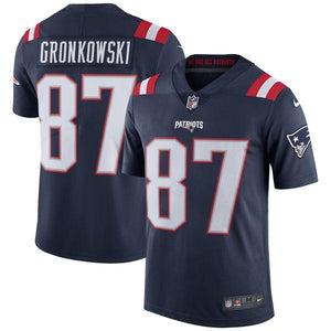 Men's New England Patriots Rob Gronkowski Nike Navy Vapor Untouchable Color Rush Limited Player Jersey
