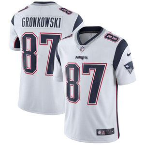 Men's New England Patriots Rob Gronkowski Nike White Vapor Untouchable Limited Player Jersey