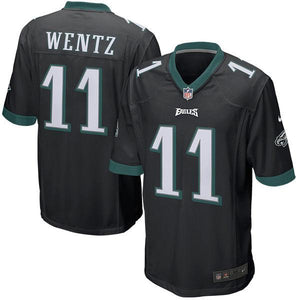 Youth Philadelphia Eagles Carson Wentz Nike Black Game Jersey