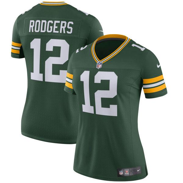 Women's Green Bay Packers Aaron Rodgers Nike Green Classic Limited Player Jersey
