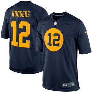 Youth Green Bay Packers Aaron Rodgers Nike Navy Blue Alternate Game Jersey