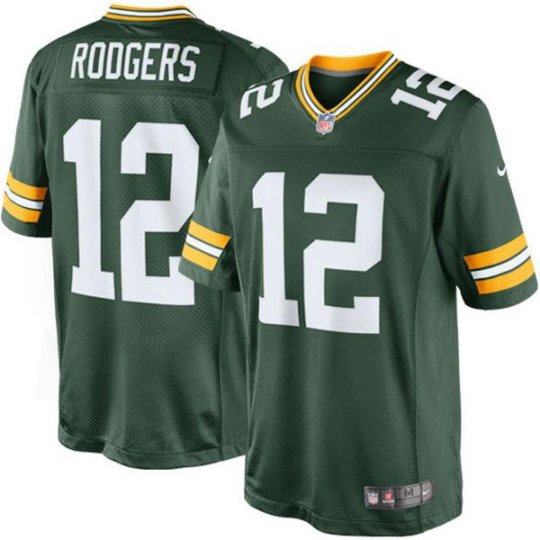 Men's Green Bay Packers Aaron Rodgers Nike Green Team Color Limited Jersey