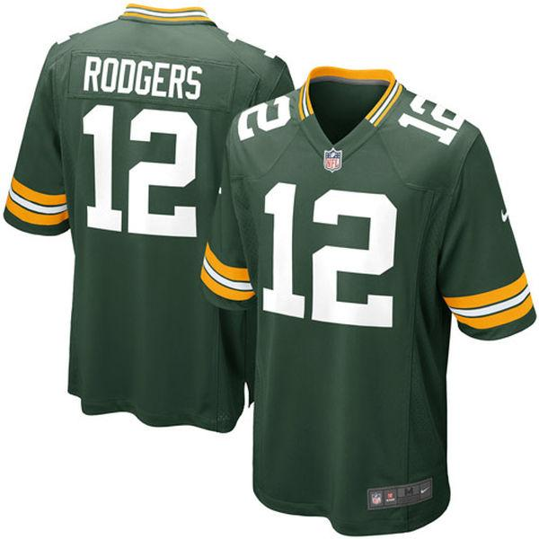 Youth Green Bay Packers Aaron Rodgers Nike Green Game Jersey