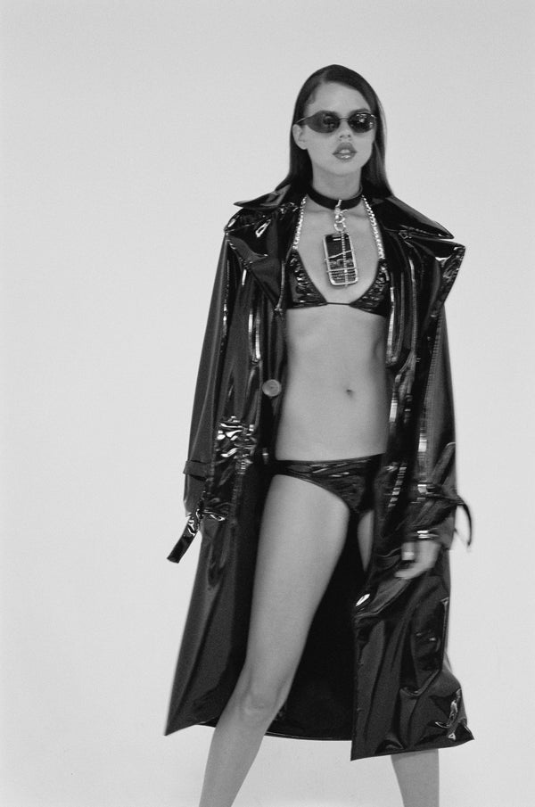 Black Berlin PVC Trenchcoat - Brashy Studios