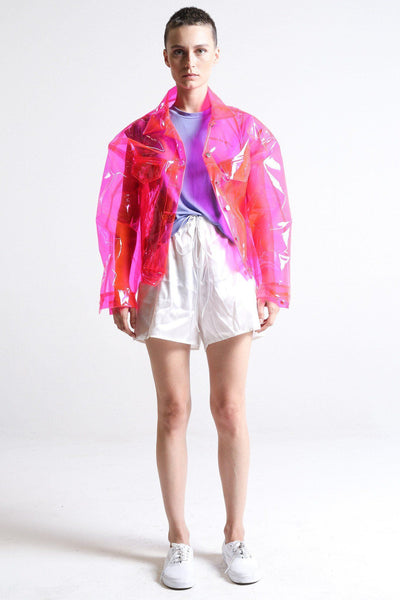 Brashy Studios Transparent Pink Crystalline Jacket $ 395.00