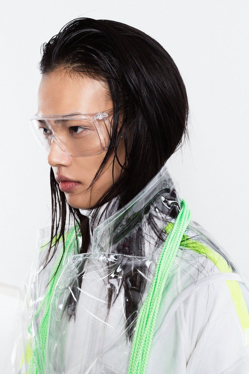 Transparent Crystalline Lab Coat - Brashy Studios