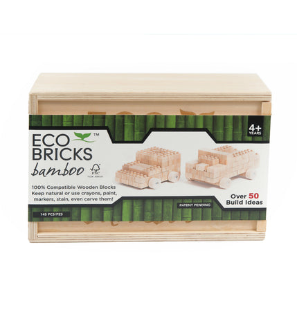 145 Piece Bamboo Eco-Bricks Set