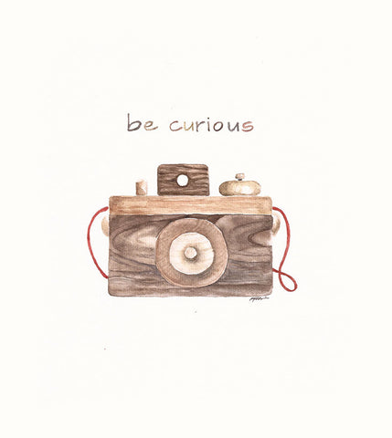 Be Curious | Watercolor Print | Ruth Simons | Wall Decor