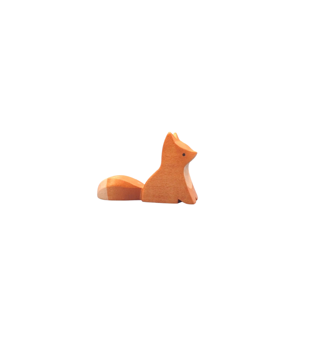 Wooden Baby Fox - Sitting