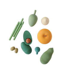 Wooden Vegetable Set II
