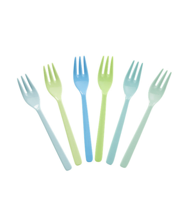 Melamine Baby Forks in Blue and Green Colors