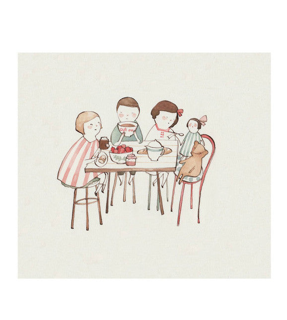 Kelsey Garrity-Riley illustration | Cafe au Lait print