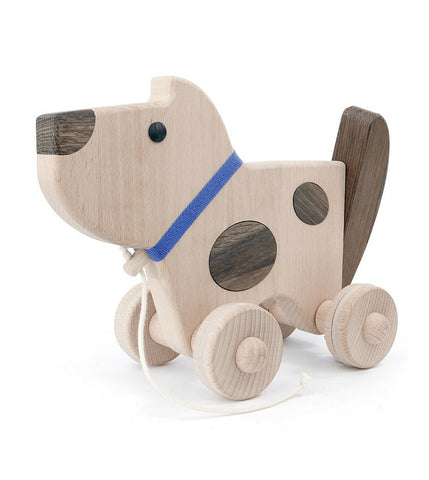 Wooden Dog Pull Toy