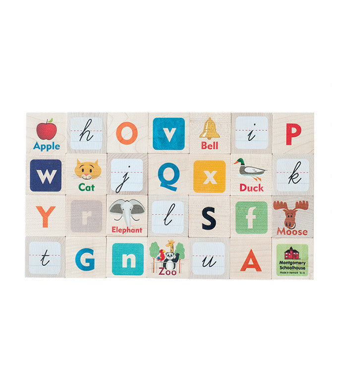 ABC Picture Blocks | Handmade Wooden Toys | Brimful