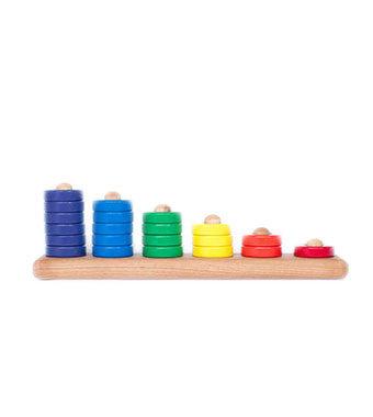 Wooden Stacking Toy | Ring Stacker | Baby Stacking Rings | Brimful