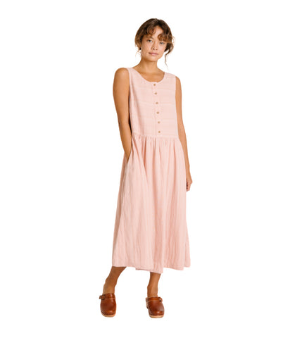 Cassia Dress - Rose Stripe