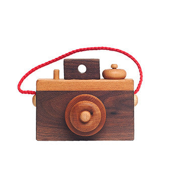 Wooden Toy Camera | Handmade Wooden Camera Toy | Brimful Baby Toys