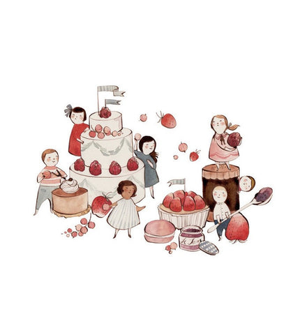 Kelsey Garrity-Riley illustration | Fancy Food Fight | Brimful Toys