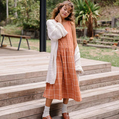 Cassia Dress - Rust Check
