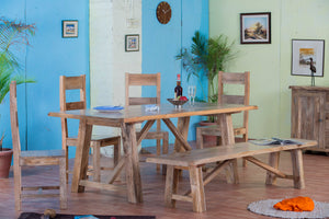 Dining Room Decor: A Match of Chairs and Benches