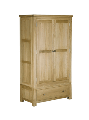 Woodstock Oak 2 Door 1 Drawer Double Wardrobe