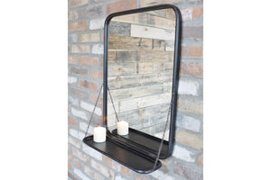Loft Collection Mirror with Shelf