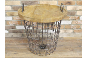 Loft Collection Basket Table