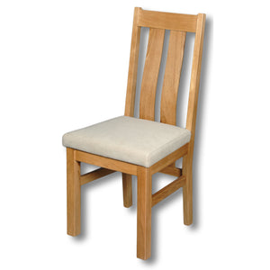Woodstock Oak Elizabeth Twin Slat Dining Chair