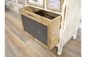 Loft Collection Industrial Storage Cabinet