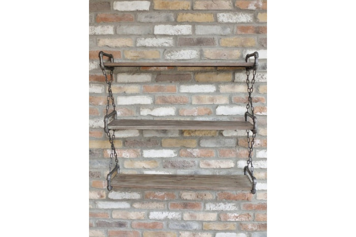 Loft Collection Industrial Wall Hanging Shelf