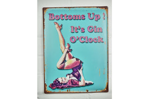 Loft Collection Bottoms Up Metal Sign
