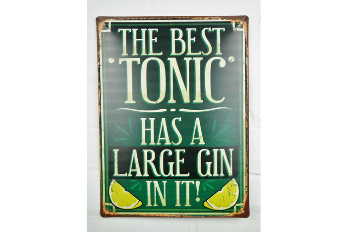 Loft Collection Gin and Tonic Metal Sign