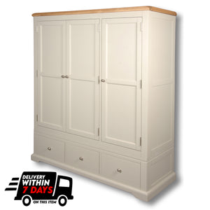 Oxford Painted Triple Wardrobe and 2 Drawers