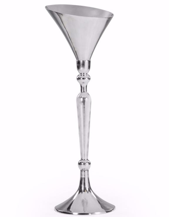 Loft Collection Large Polished Aluminium Champagne Bucket on Stand