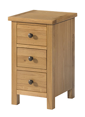 Burford Oak 3 Drawer Bedside | A Touch of Furniture Oxfordshire