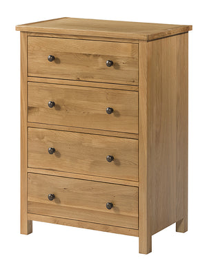 Burford Oak 4 Drawer Chest | A Touch of Furniture Oxfordshire