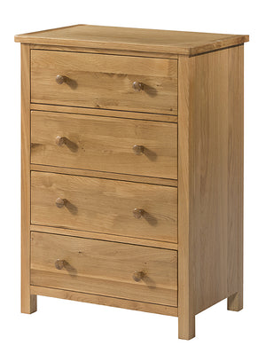 Burford Oak 4 Drawer Chest
