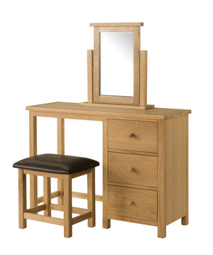 Burford Oak Dressing Table, Mirror, and Stool | A Touch of Furniture