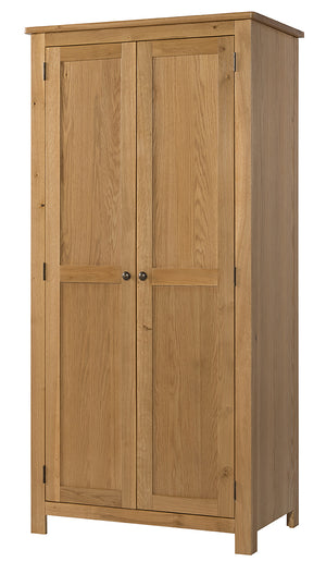 Burford Oak Double Full Hanging Wardrobe | A Touch of Furniture