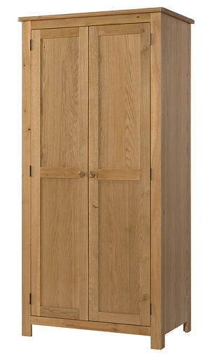 Burford Oak Double Full Hanging Wardrobe