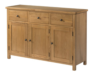 Burford Oak Sideboard with 3 Doors and 3 Drawers | A Touch of Furniture Banbury and Bicester
