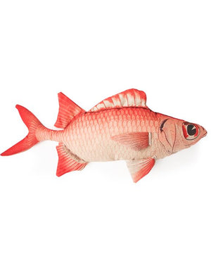Loft Collection Red & Pink Fish Cushion