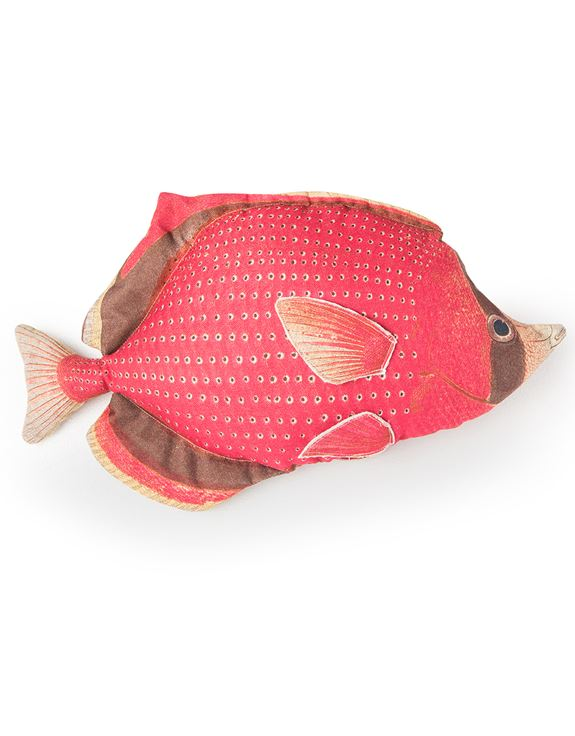 Loft Collection Red Fish Cushion