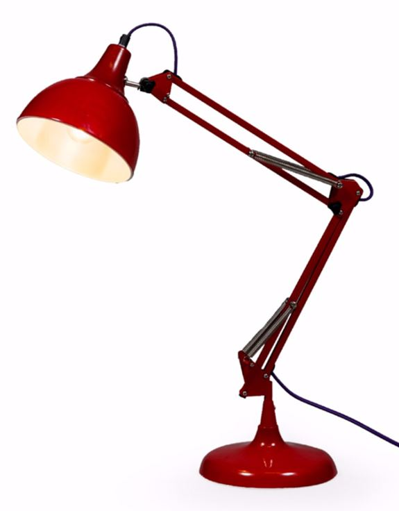 Loft Collection Large Red Traditional Desk Lamp