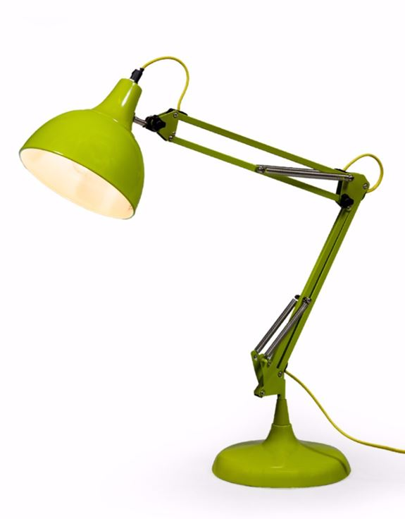 Loft Collection Large Lime Green Traditional Desk Lamp