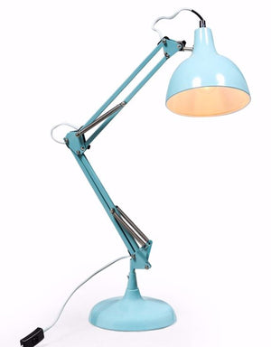 Loft Collection Large Sky Blue Traditional Desk Lamp