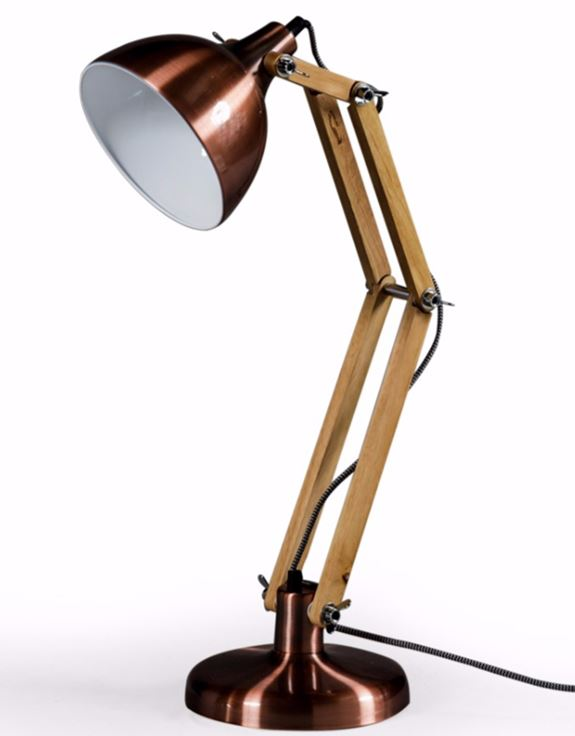 Loft Collection Vintage Copper Traditional Desk Lamp