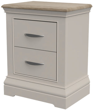 Cobble Painted 2 Drawer Bedside